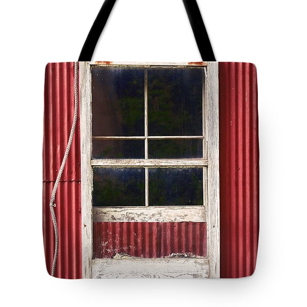 Barn Window And Rope Tote Bag