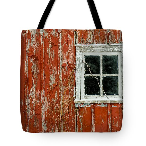 Tote Bag featuring the photograph Barn Window by Dan Traun