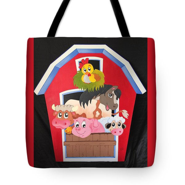Barn With Animals Tote Bag