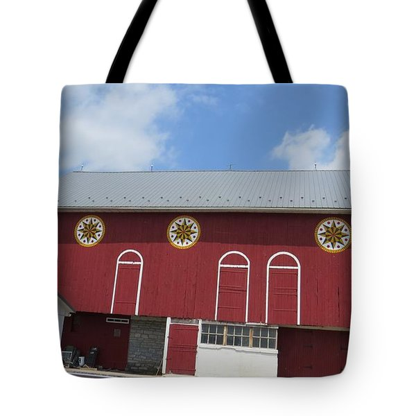 Barn With Hex Signs Tote Bag
