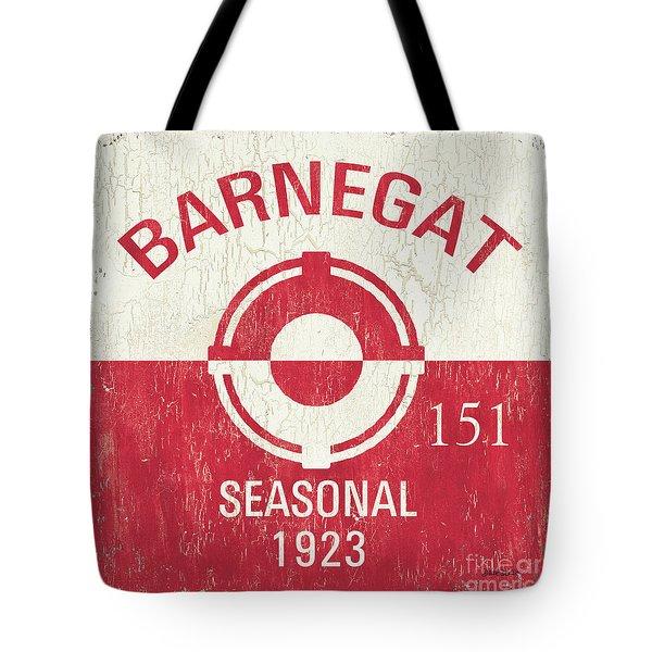 Barnegat Beach Badge Tote Bag