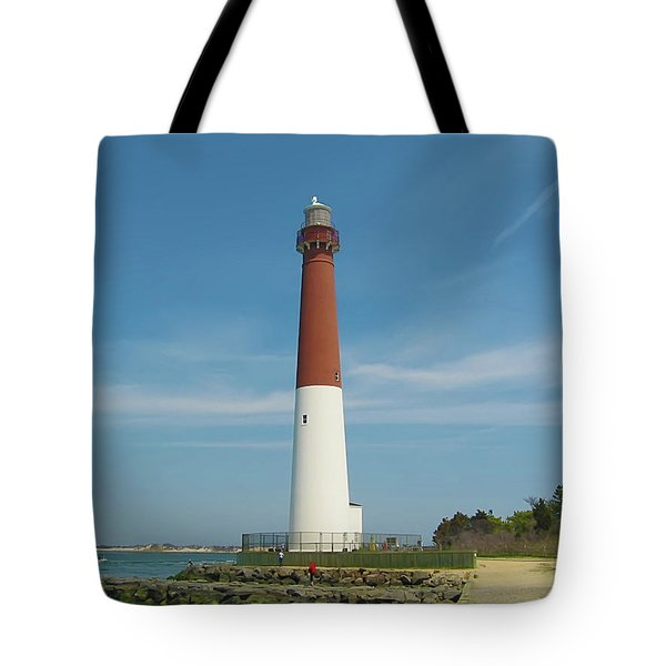 Barnegat Lighthouse Tote Bag by Bill Cannon