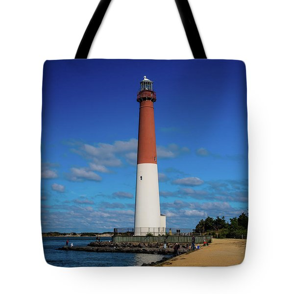 Tote Bag featuring the photograph Barnegat Lighthouse by Louis Dallara