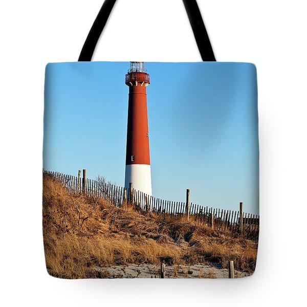 Barnegat Lighthouse Nj Tote Bag by John Greim