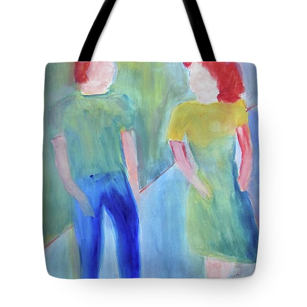 Tote Bag featuring the painting Barney And Elizabeth by Sandy McIntire