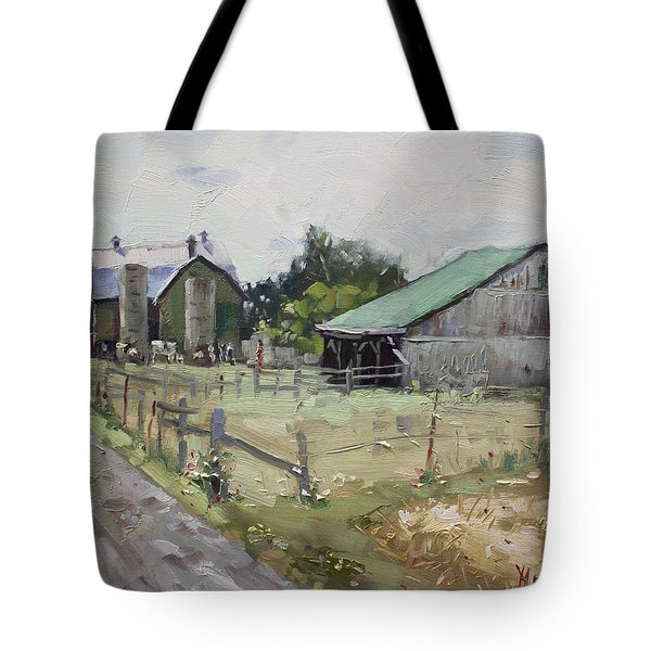 Barns And Old Shack In Norval Tote Bag