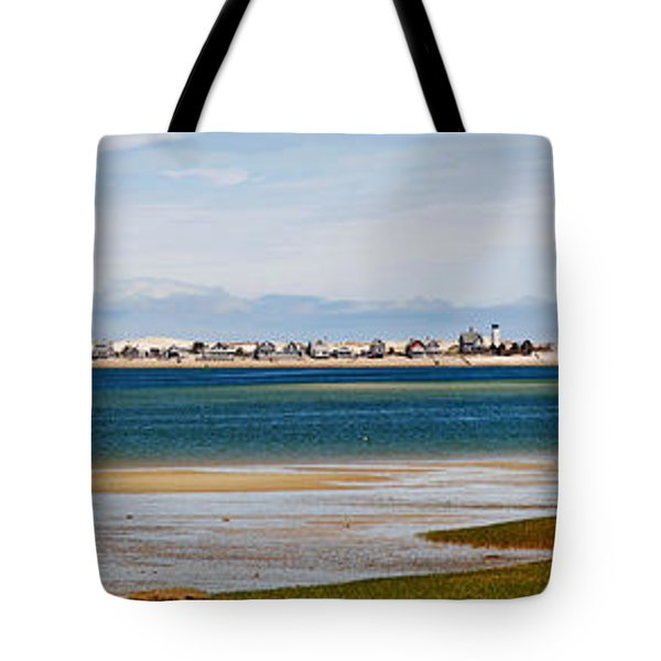 Barnstable Harbor Panorama Tote Bag by Charles Harden