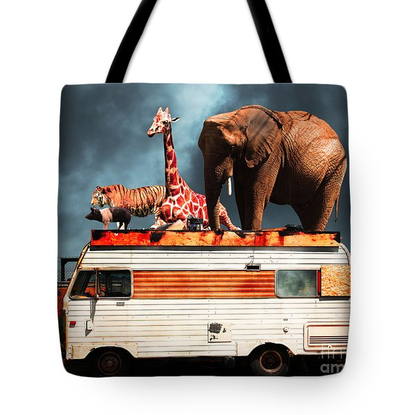 Barnum And Baileys Fabulous Road Trip Vacation Across The Usa Ci Tote Bag by Home Decor