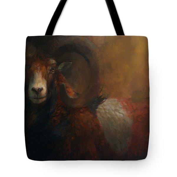 Baroque Mouflon Portrait Tote Bag