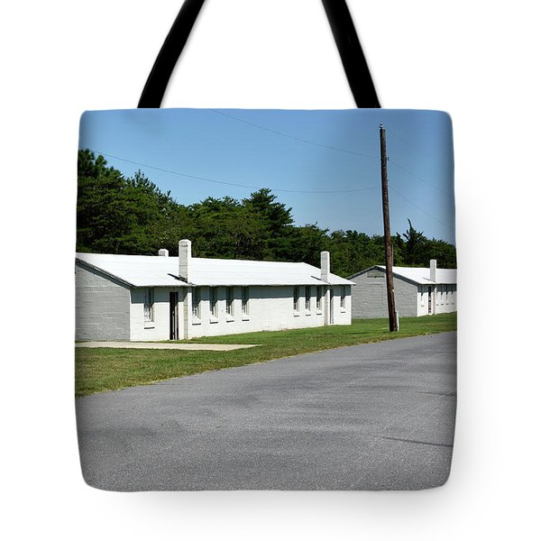 Tote Bag featuring the photograph Barracks At Fort Miles - Cape Henlopen State Park by Brendan Reals