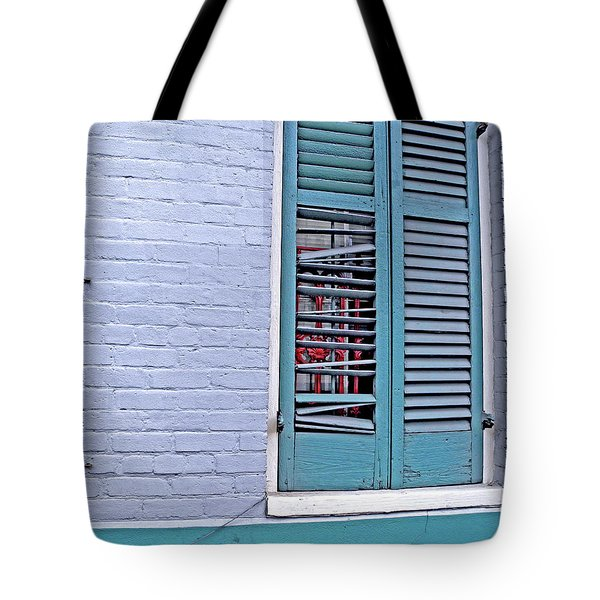 Tote Bag featuring the photograph Barred And Shuttered by Lynda Lehmann