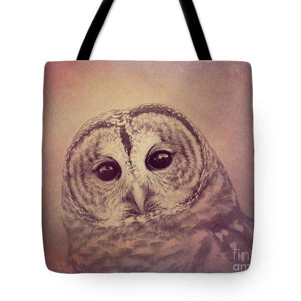 Barred Owl 2 Tote Bag