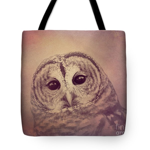 Tote Bag featuring the photograph Barred Owl 2 by Chris Scroggins