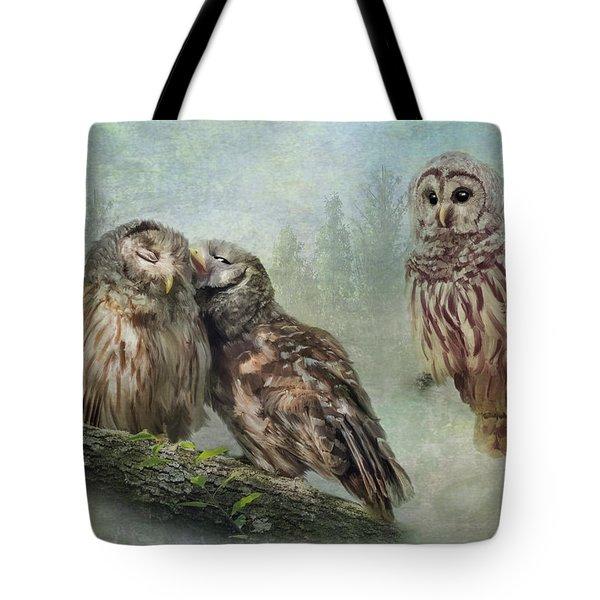 Barred Owls - Steal A Kiss Tote Bag
