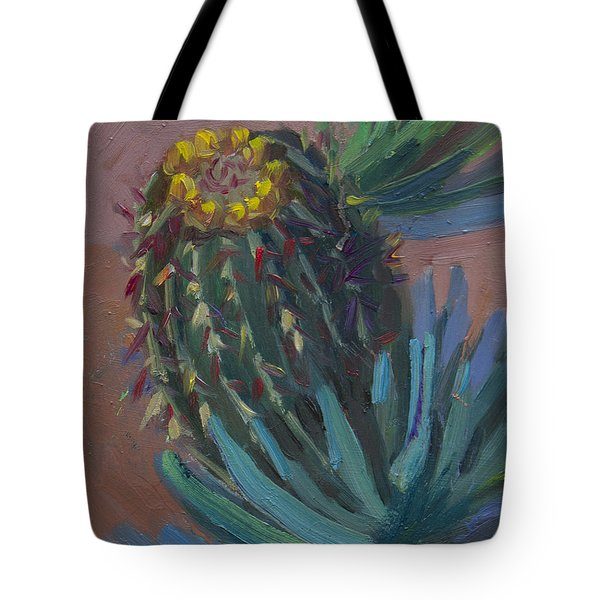 Barrel Cactus In Bloom - Boyce Thompson Arboretum Tote Bag