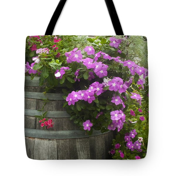 Barrel Of Flowers Tote Bag