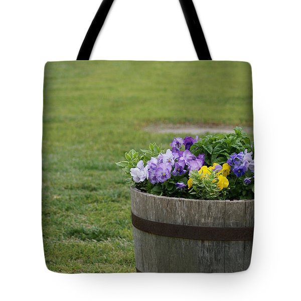 Barrel Of Flowers Tote Bag