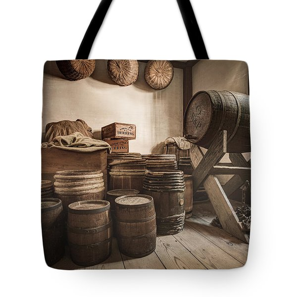 Tote Bag featuring the photograph Barrels By The Window by Gary Heller