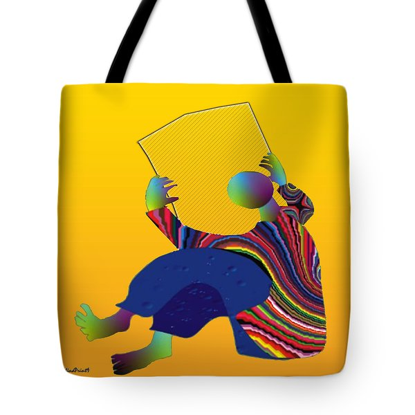 Tote Bag featuring the digital art Barren Newspaper by Asok Mukhopadhyay