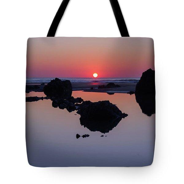 Barricane Beach In Devon Tote Bag