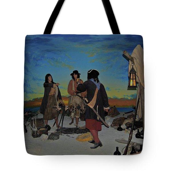 Barring Buccaneers Tote Bag by DigiArt Diaries by Vicky B Fuller