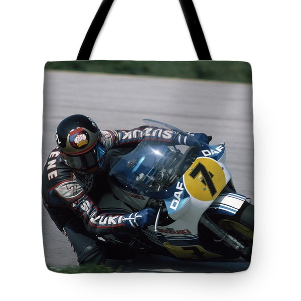 Barry Sheene. 1984 Nations Motorcycle Grand Prix Tote Bag