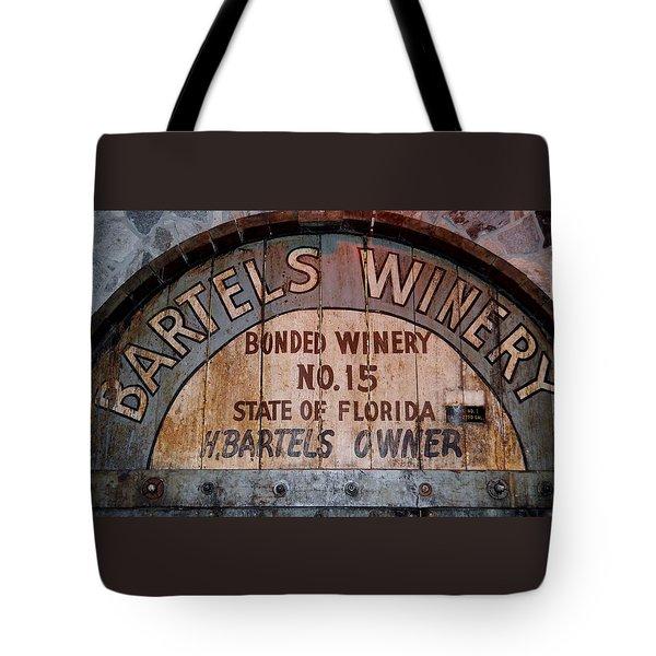Bartels Winery Tote Bag