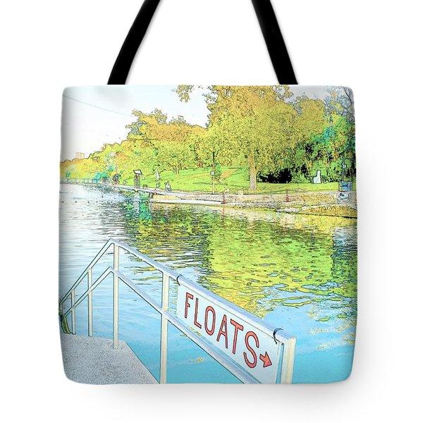 Barton Springs Sketch Tote Bag