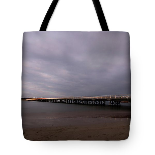 Tote Bag featuring the photograph Barwon Heads Bridge by Linda Lees