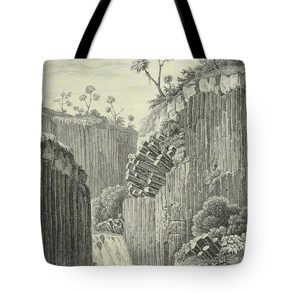 Basalt Rocks And The Cascade De Regla, Tote Bag