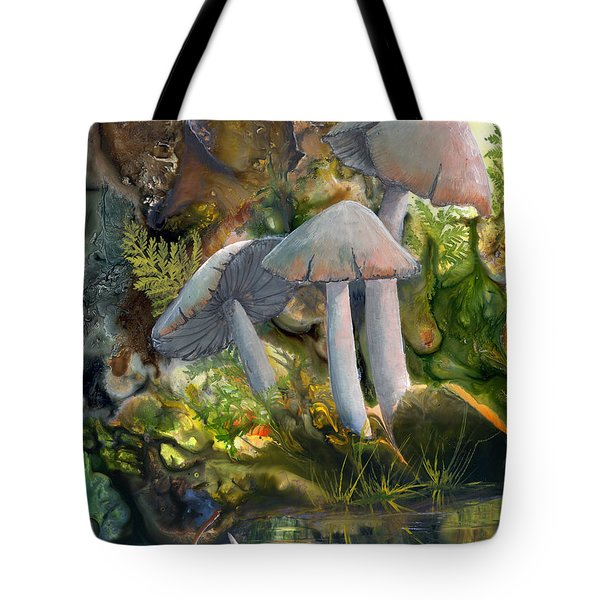 Tote Bag featuring the painting Base Camp by Sherry Shipley