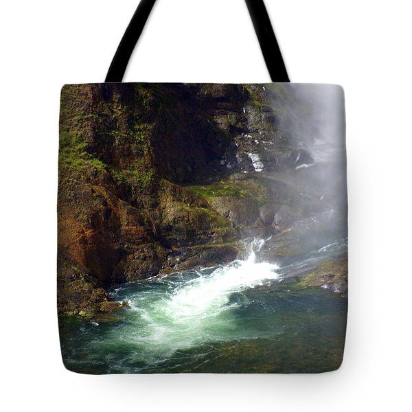 Base Of The Falls 1 Tote Bag by Marty Koch
