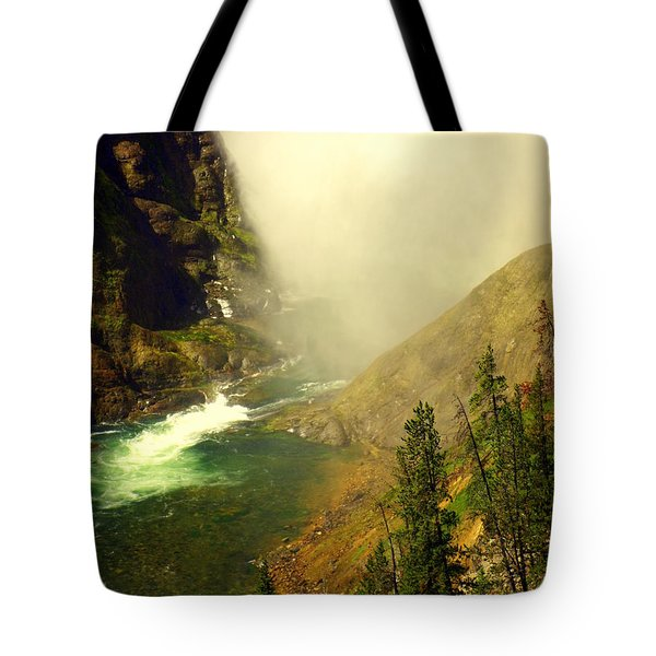 Base Of The Falls 2 Tote Bag by Marty Koch
