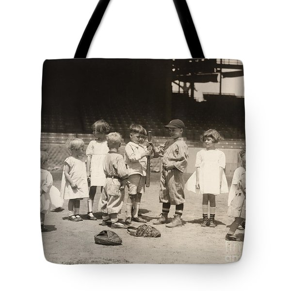 Baseball: Boys And Girls Tote Bag by Granger