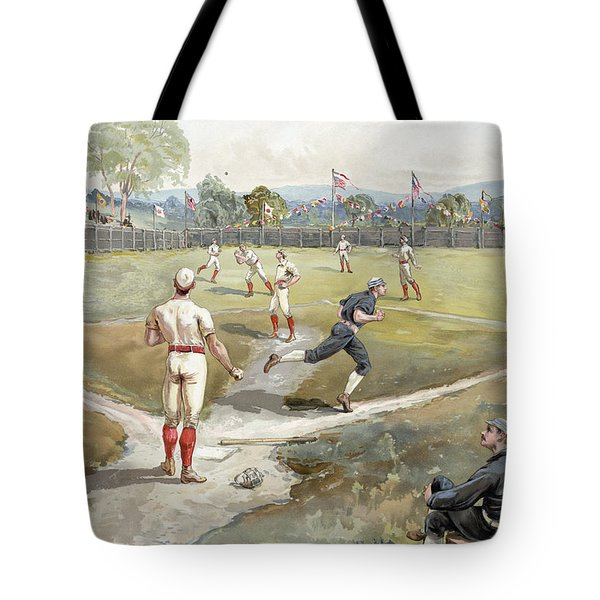 Baseball Game Tote Bag