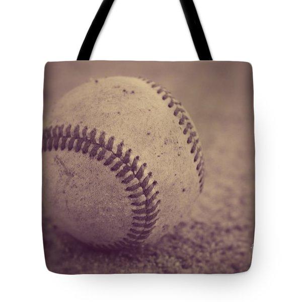 Baseball In Sepia Tote Bag
