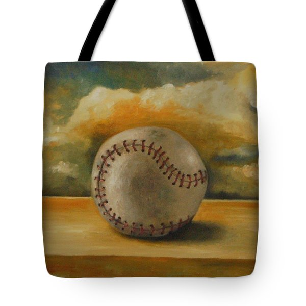 Baseball Tote Bag by Leah Saulnier The Painting Maniac