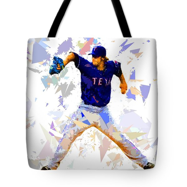 Tote Bag featuring the painting Baseball Pitch by Movie Poster Prints