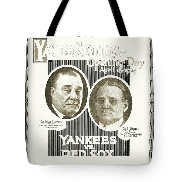 Baseball Program, 1923 Tote Bag by Granger