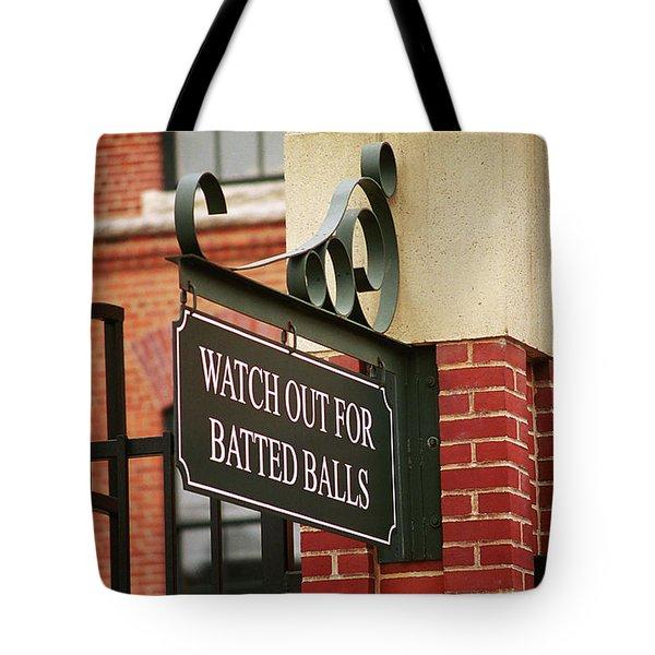 Baseball Warning Tote Bag