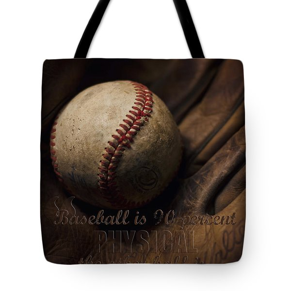 Baseball Yogi Berra Quote Tote Bag
