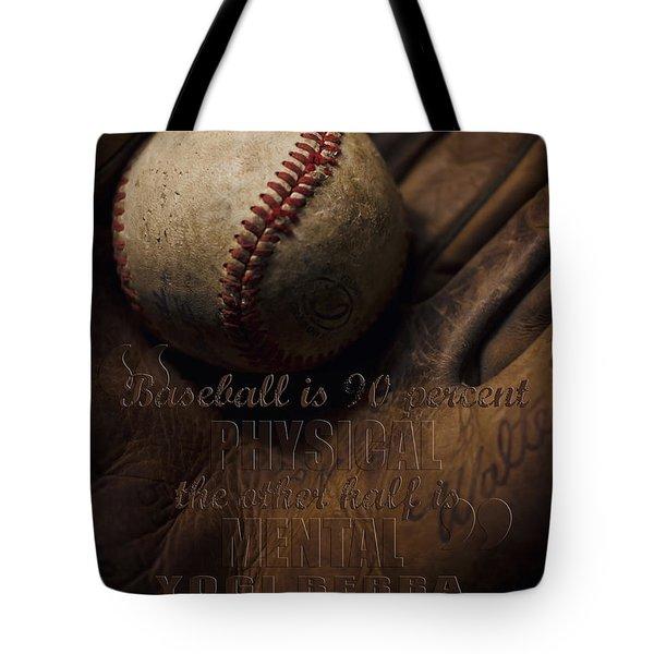 Baseball Yogi Berra Quote Tote Bag