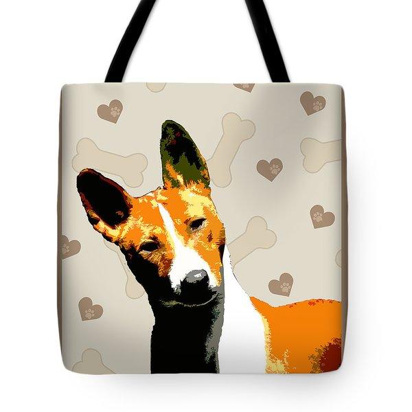 Basenji Tote Bag by One Rude Dawg Orcutt