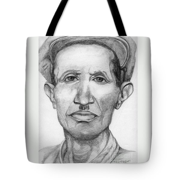 Tote Bag featuring the drawing Bashi by Annemeet Hasidi- van der Leij