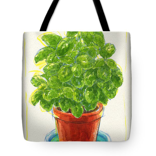 Tote Bag featuring the painting Basil by Judith Kunzle