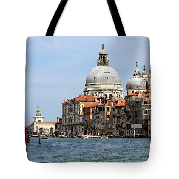 Basilica Della Salute And Punta Della Dogana On The Grand Canal Tote Bag