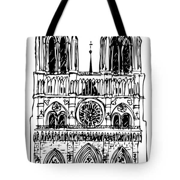 basilica Notre Dame Tote Bag