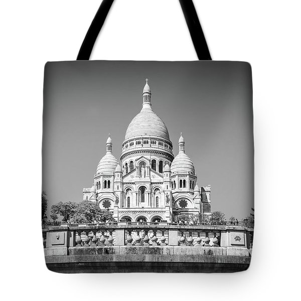 Basilica Of The Sacred Heart In Paris Tote Bag