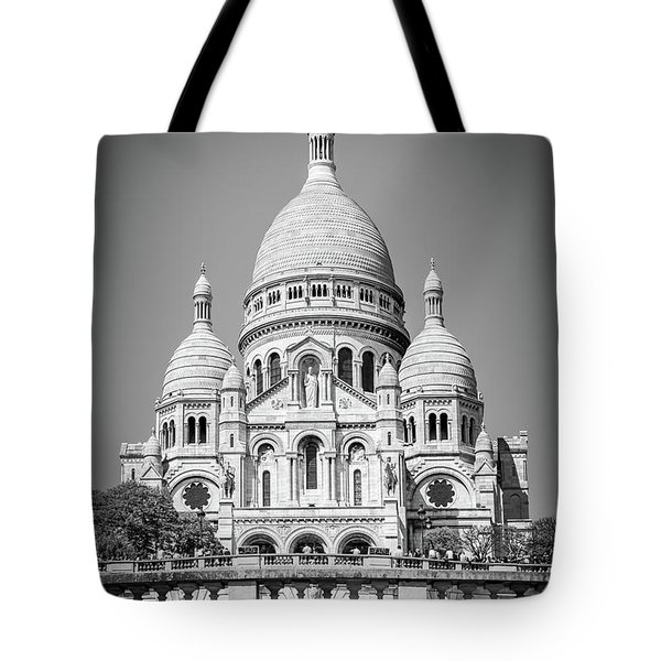 Basilica Of The Sacred Heart In Montmartre Tote Bag