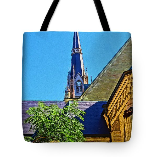 Basilica Of The Sacred Heart Notre Dame Tote Bag by Dan Sproul